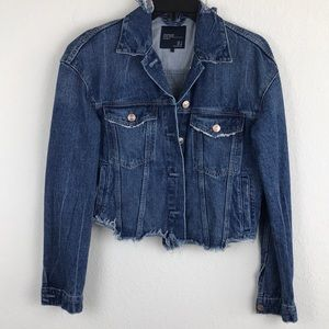 Zara - trafaluc cropped denim jacket